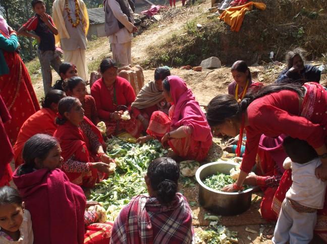 Een Nepalees dorpsfeest