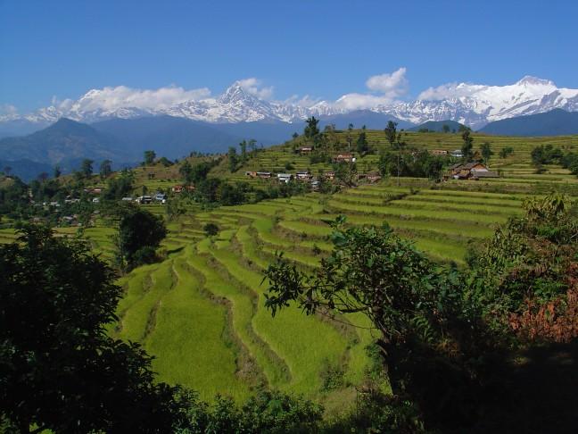 Annapurna fishtail panorama