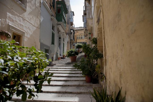 Straat in Valetta