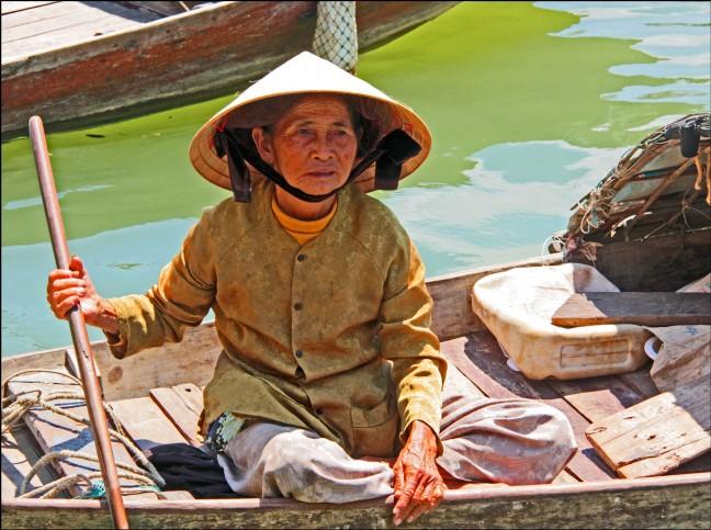 Aan de Thu Bon rivier