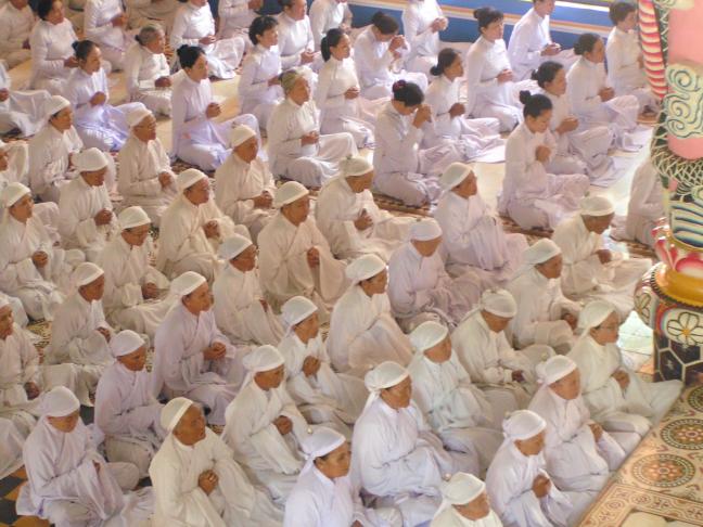 Cao Dai in de tempel