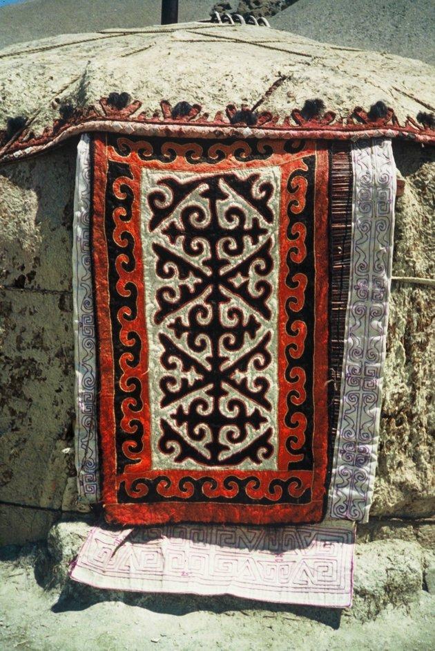 Yurts en filt tapijten