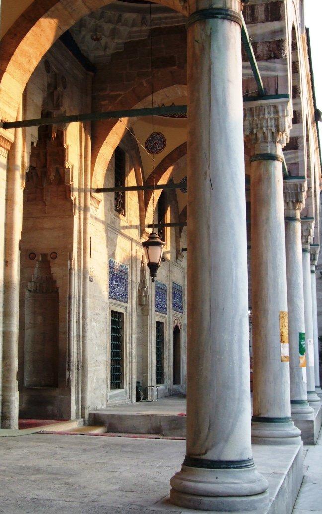 Moskee in de avond