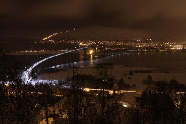 Tromsø, Noord Noorwegen bij nacht
