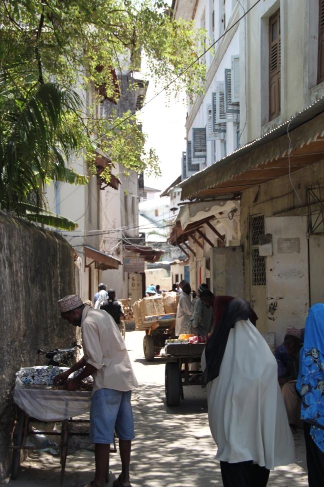 Bedrijvigheid in Stone Town City