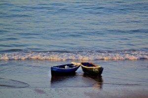 Vissersbootjes bij zonsopgang - Taghazout