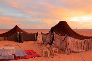 Nomaden tenten, Sahara