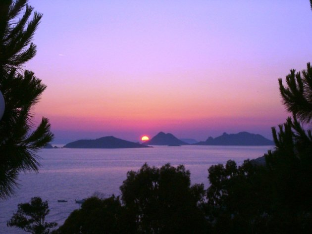 Zonsondergang nabij Turgutreis