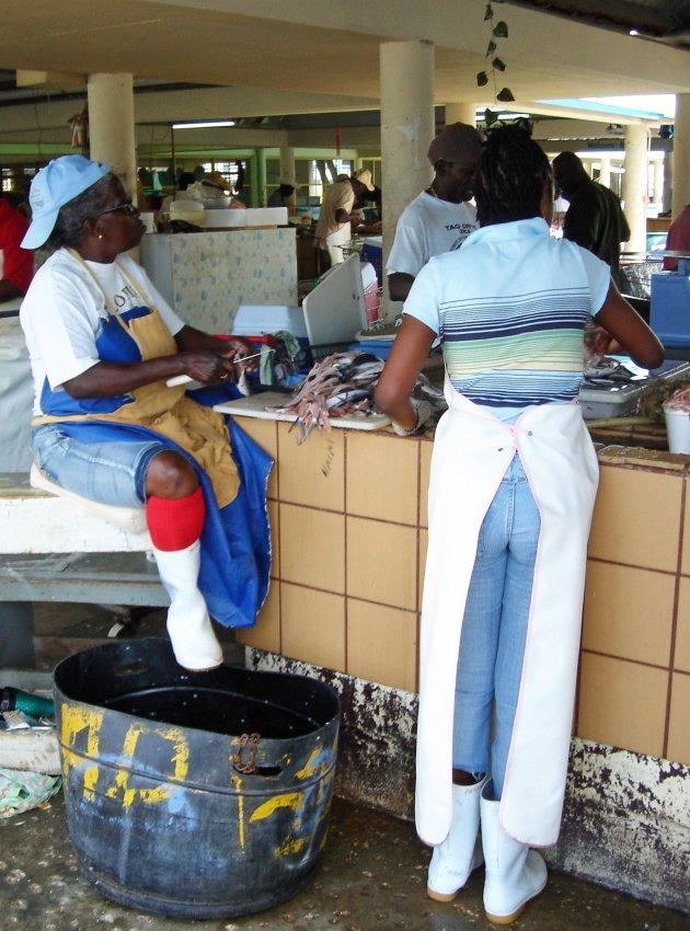 Op de vismarkt
