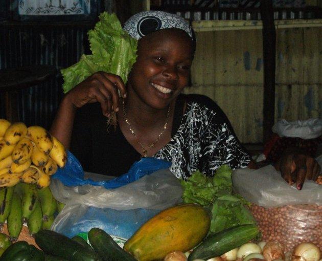 fruit/vegetable market lady