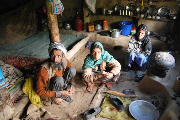 Gezin in Kashmir