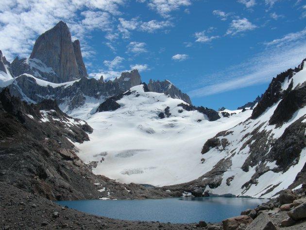 Fitz Roy en Lago de los Tres in National Parc Los Glaciares