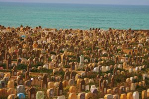 Kleurige graven.