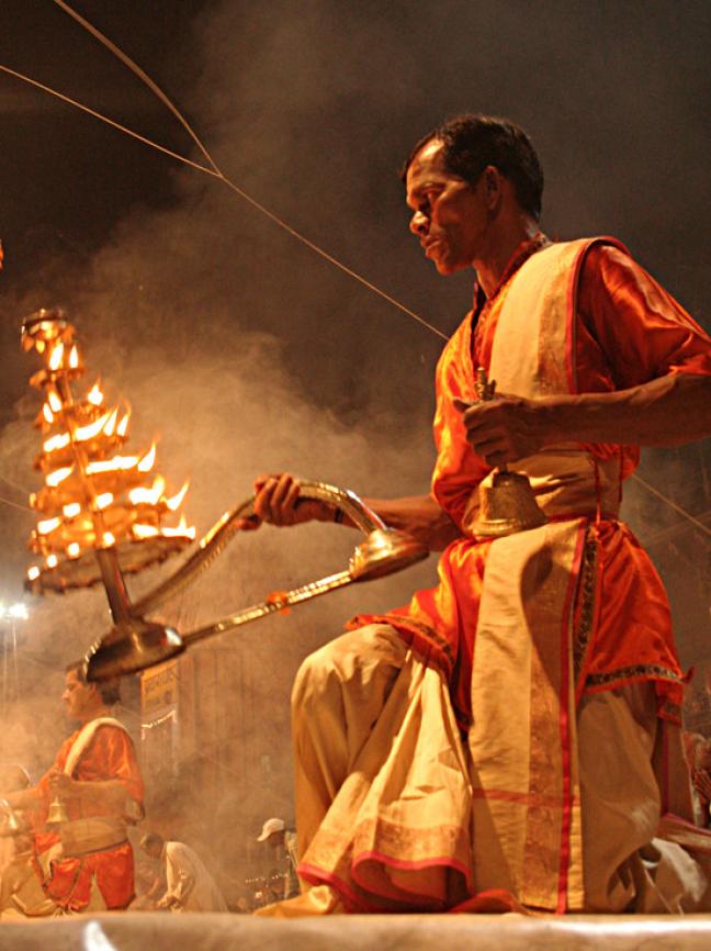 Aarti ceremonie