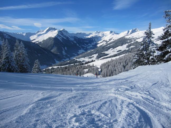 Landschap tijdens een ski-afdaling