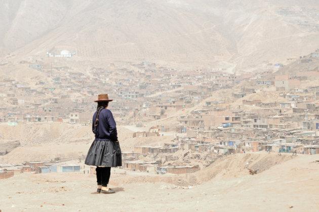 In de krottenwijk Machay in Lima.