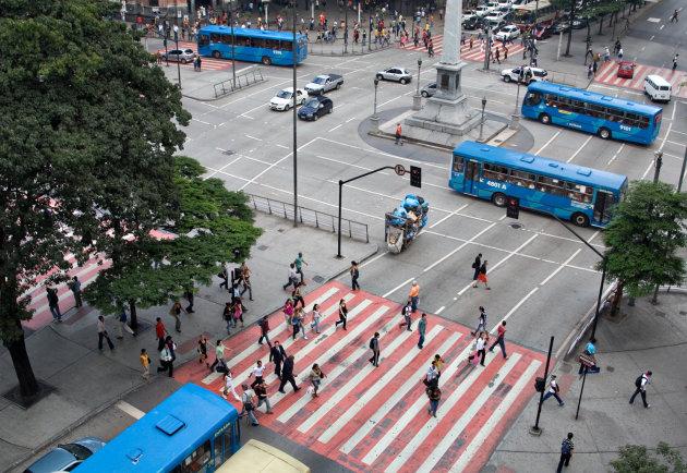 4 blue busses