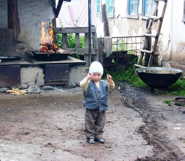 vuurplaats en kind