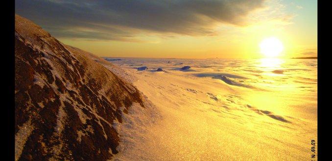 Botnische Golf in de winter