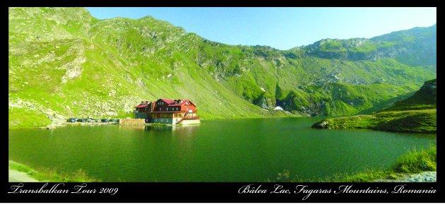 Bâlea Lac berghut in de Transsylvanische Alpen, Roemenie