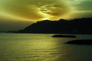 Feesten en muziek op het strand van Napels