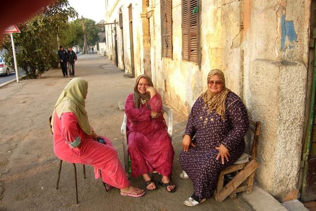 Dames op straat