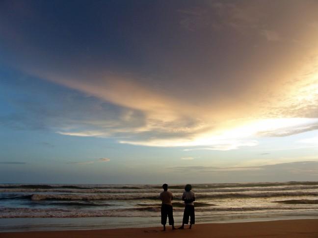 Zonsondergang in Sri Lanka