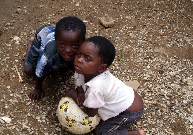 Zambia - buitenwijk van Lusaka