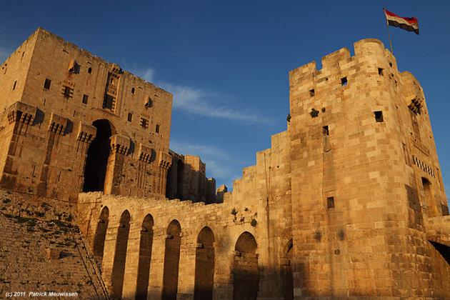 Ingang van de citadel van Aleppo