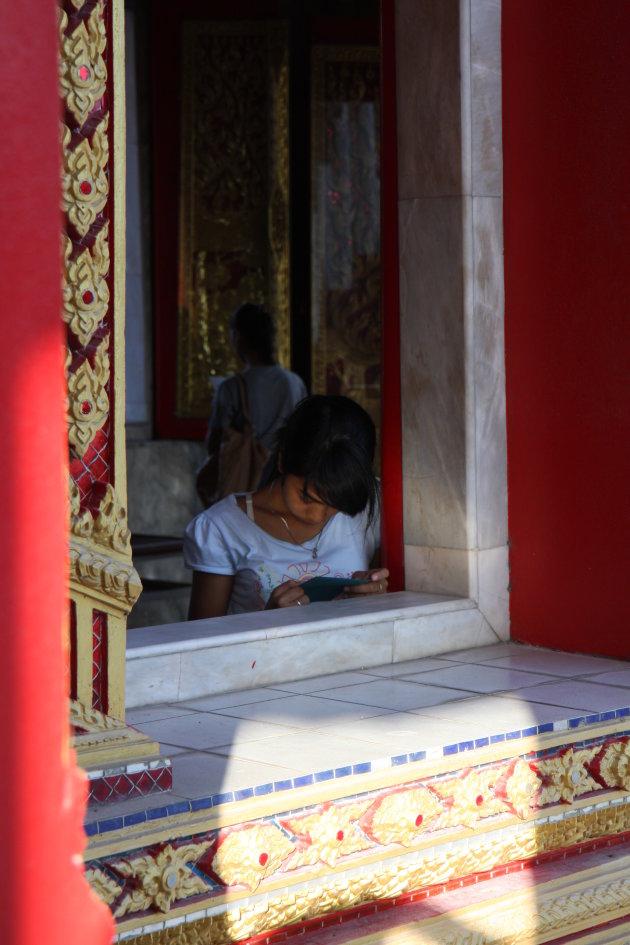Rustmomentje in de tempel...
