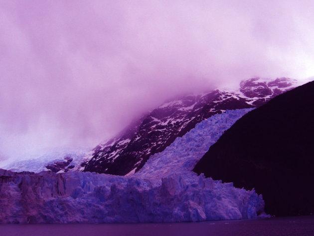Gletsjer door zonnebril