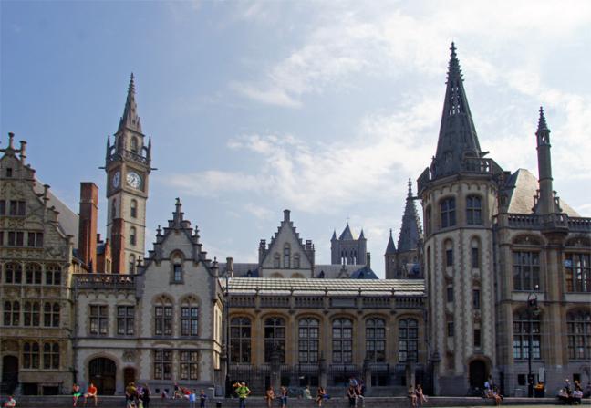 historisch centrum van Gent
