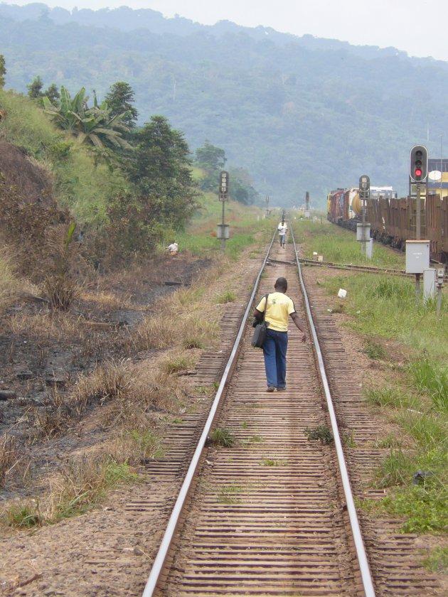 Alleen op het spoor.....