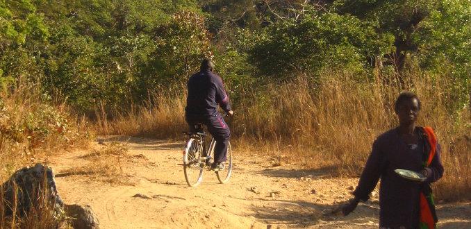 Op de fiets door afrika