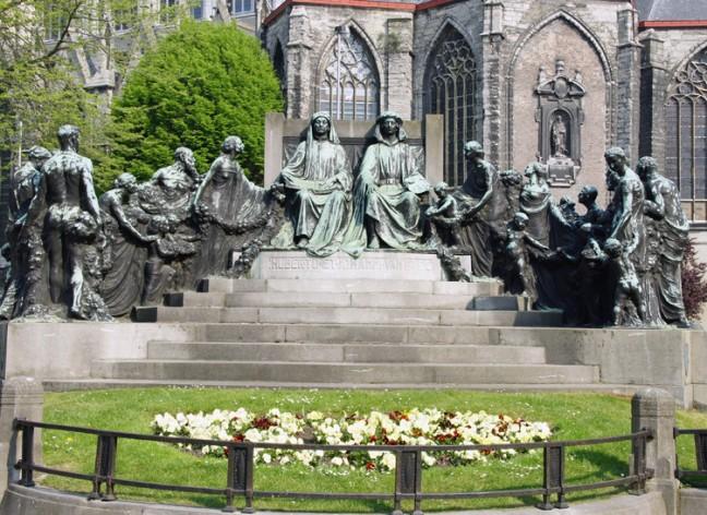 Monument van de gebr. van Eyck Gent