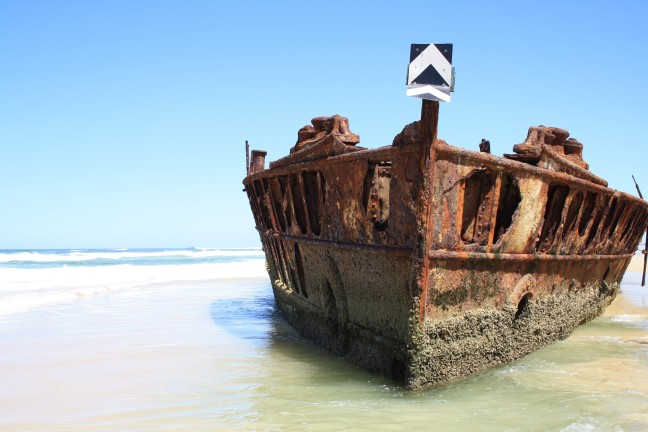 Maheno scheepswrak op Fraser Island