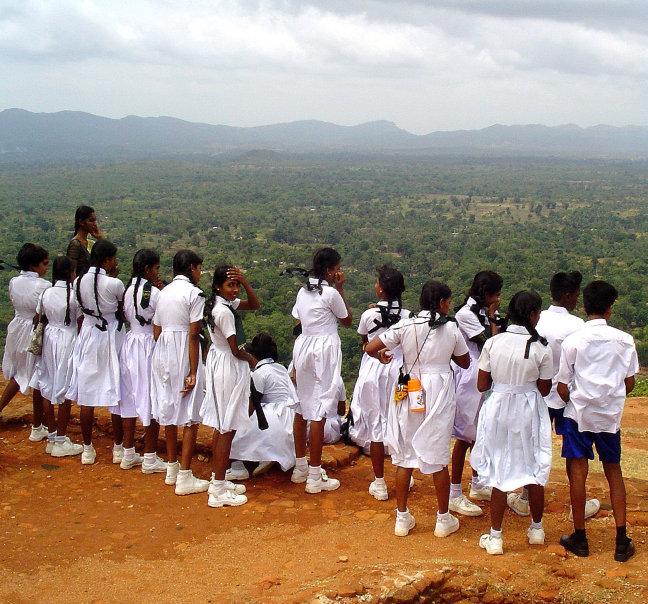 Schoolklas Sigiriya