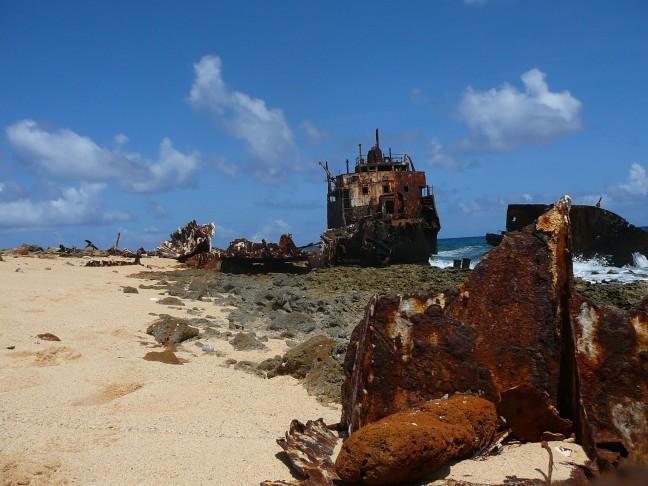 Scheepswrak op klein Curaçao