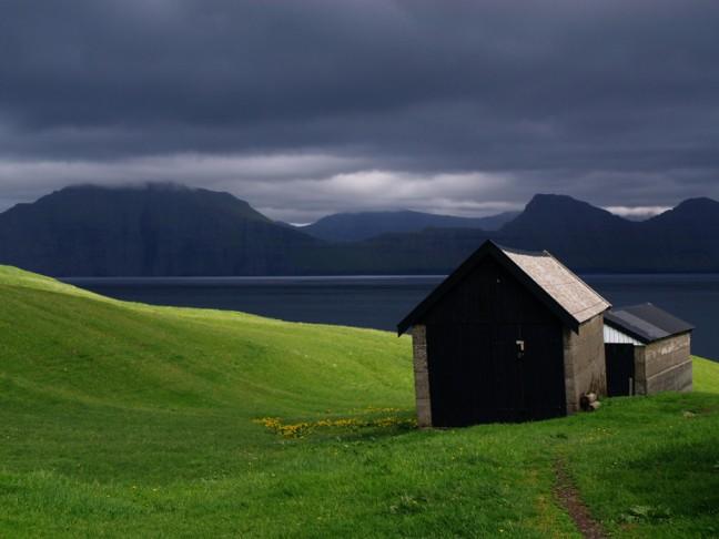 Gjógv (Faeröer / Faroer eilanden)