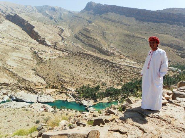 Wadi bani Khalid, van bovenaf gezien