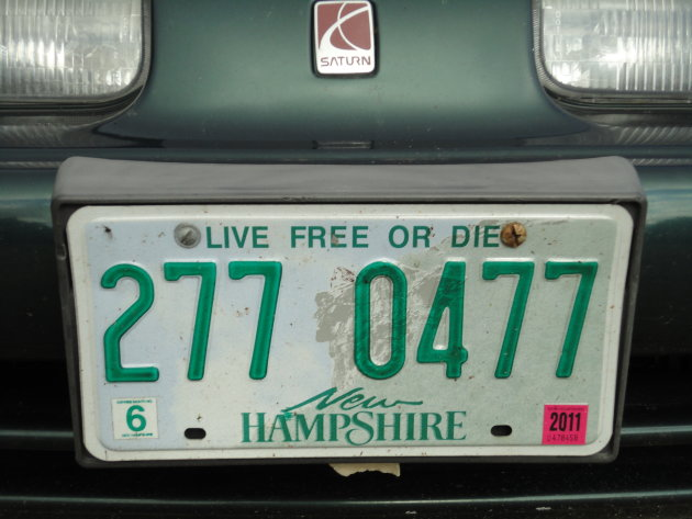 Nummerbord New Hampshire
