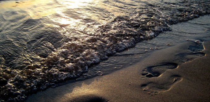 Voetafdruk in het Zand