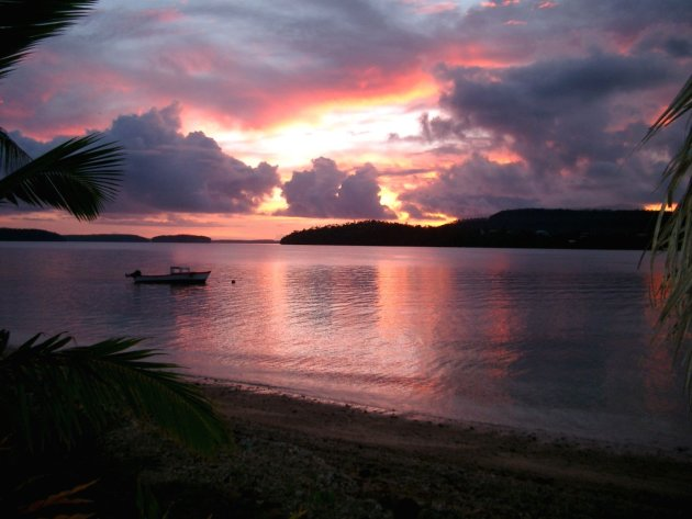 Zonsondergang op Tonga