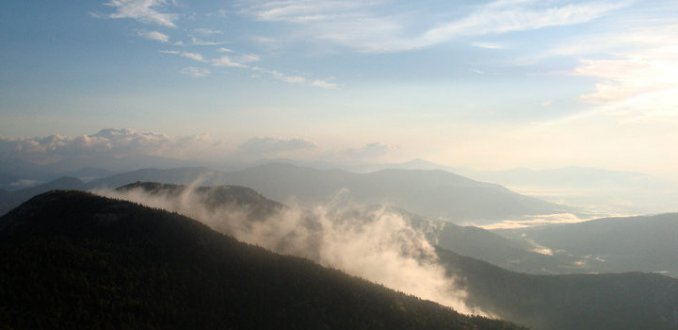 Vroege ochtend vanaf Mount Chocorua, New Hampshire