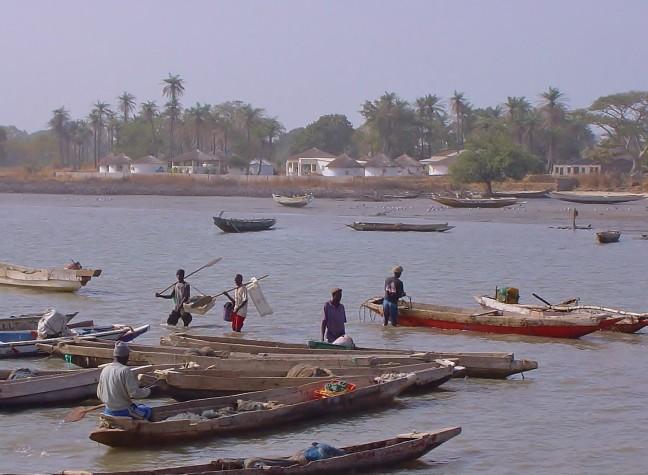 De vissers varen uit.