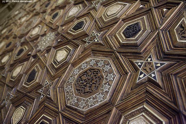 Houtwerk van de minbar van de Al-Djami' al-Kabir