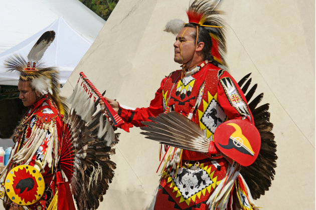 Cree Indians in full dress