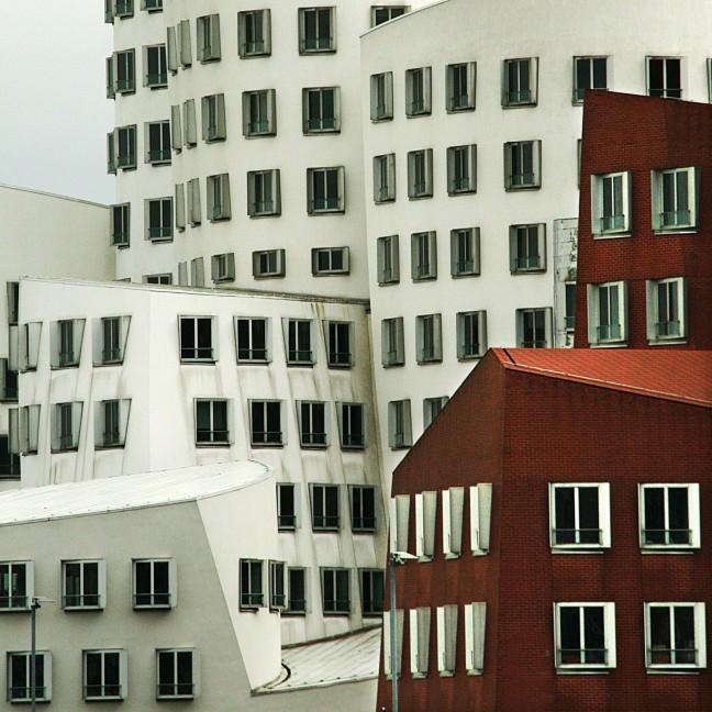 Architectonische speeltuin in de Medienhafen @ Dusseldorf