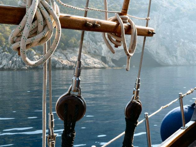 Grot vanuit de boot