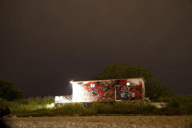 Nachtshot op legerbasis
